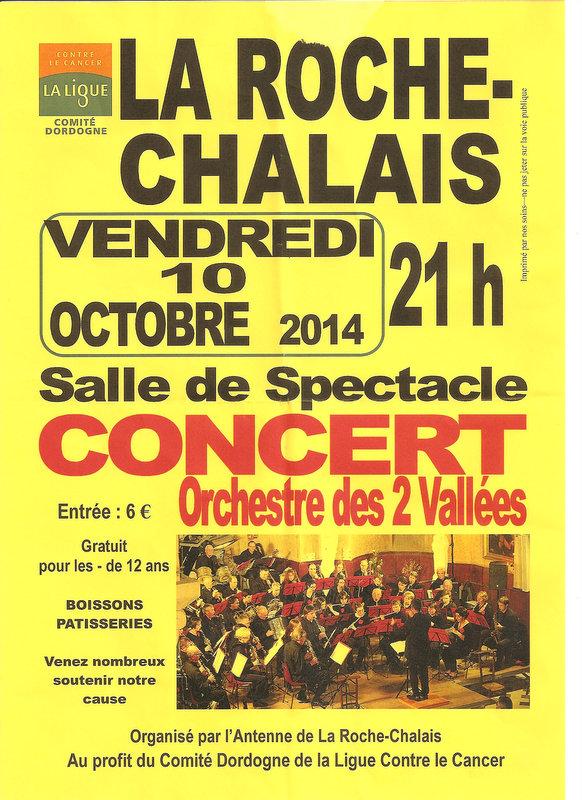 Affiche concert 10 10 2014 la roche chalais1