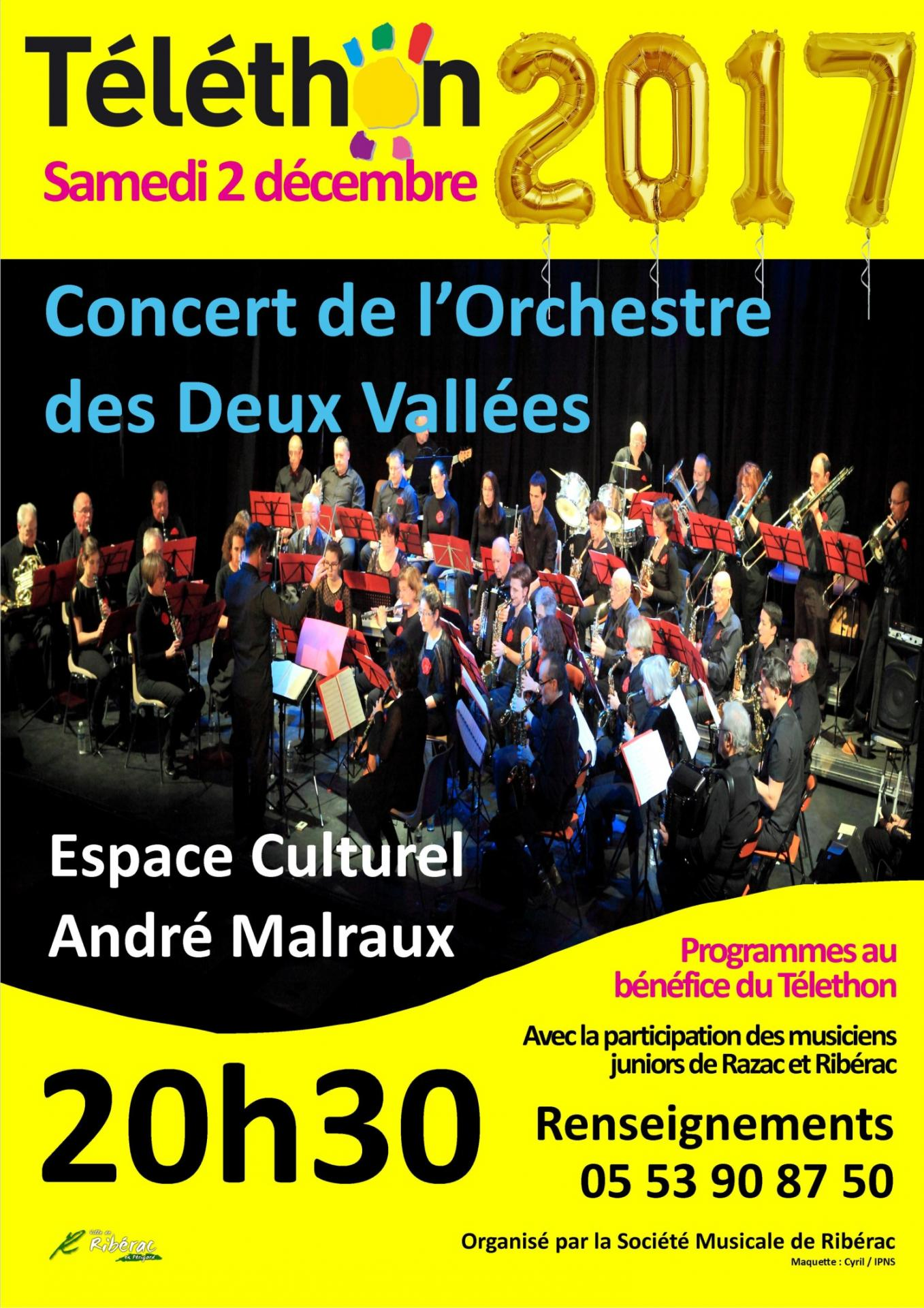 Affiche red concert telethon